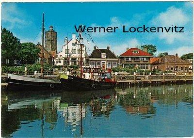 Ansichtskarte Niederlande Terschelling Haven Hafen mit Fischkutter