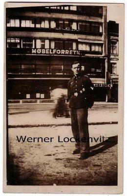 Ansichtskarte Soldat in Dänemark Fotokarte Motive Militär 3. Reich