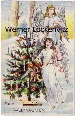 Ansichtskarte Frohe Weihnachten Zwei Engel