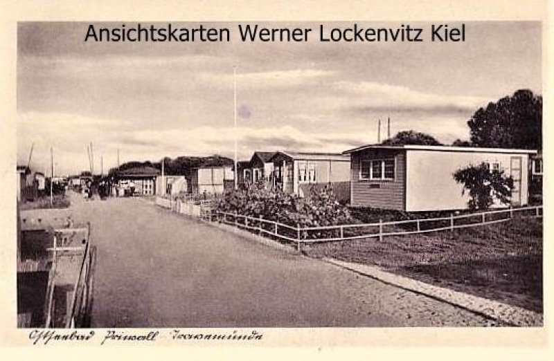 Ansichtskarte Lübeck-Travemünde-Priwall Gartenlauben