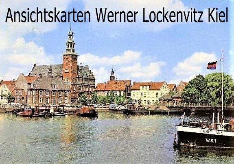 Ansichtskarte Leer Hafen mit Blick auf Rathaus und Alte Waage