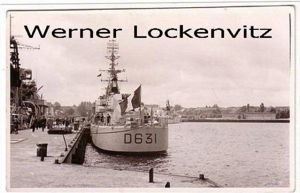 Ansichtskarte Carte Postale Zerstörer Destroyer D 631 Frankreich France