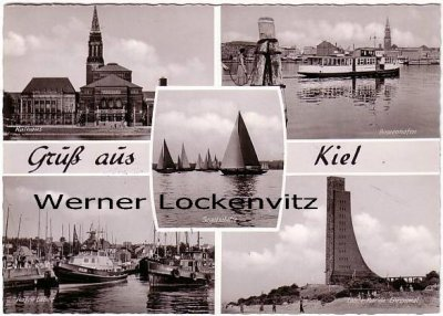Ansichtskarte Kiel Binnenhafen Laboe Hafen Rathaus Segelschiffe