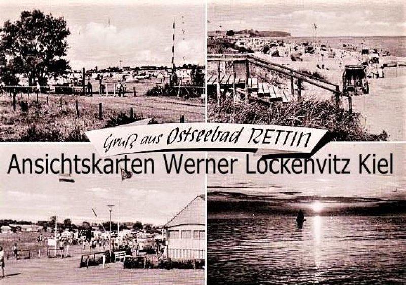 Ansichtskarte Neustadt-Rettin in Holstein Zeltplatz Strand