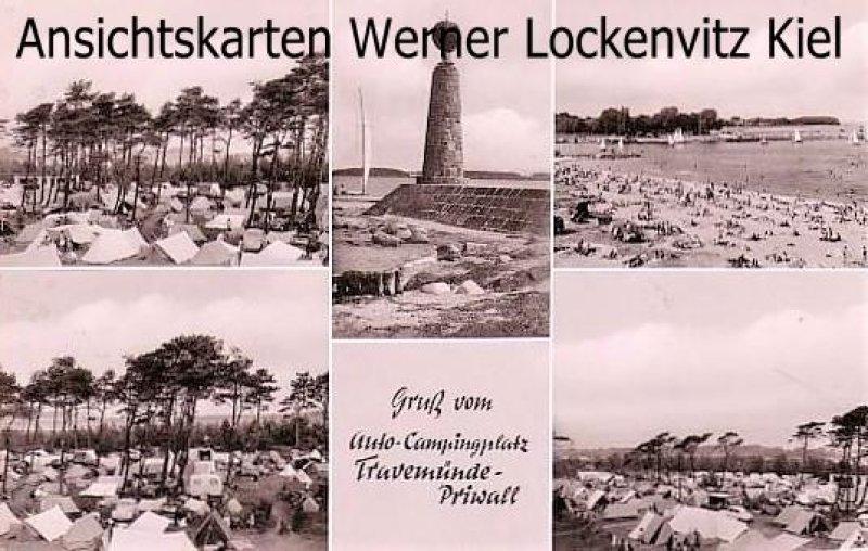 Ansichtskarte Lübeck-Travemünde-Priwall mehrfach Zeltplätze Strand