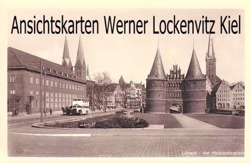 Ansichtskarte Lübeck Am Holstentorplatz