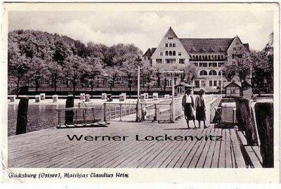 Ansichtskarte Glücksburg Matthias Claudius Heim