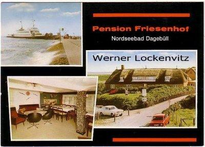 Ansichtskarte Dagebüll  Pension Friesenhof mehrfach Bes. Karl R. Küper mehrfach