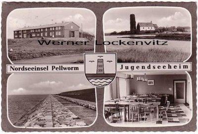 Ansichtskarte Nordseeinsel Pellworm Jugendseeheim Außen-und Innenansicht