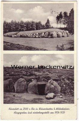 Ansichtskarte Kleinenkneten bei Wildeshausen Hünenbett Ausgrabungen