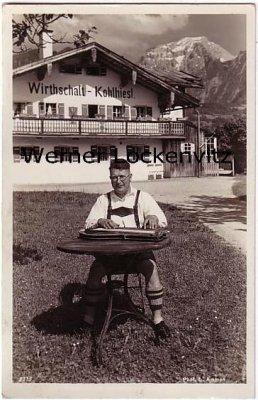 Ansichtskarte Schönau Zitherfranzl beim Kohlhiesl