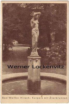 Ansichtskarte Dresden-Weißer Hirsch Kurpark mit Zierbrunnen