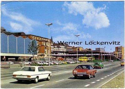 Ansichtskarte Kiel Hauptbahnhof und ZOB