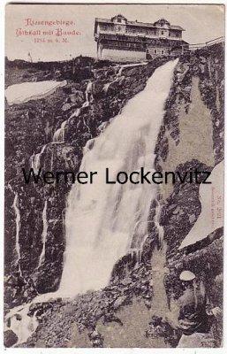 Ansichtskarte Hohenelbe Vrchlabi Elbfall mit Baude Labsky Vodopad