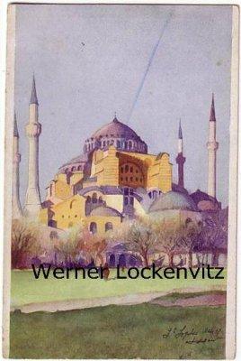 Ansichtskarte Türkei Istanbul Constantinopel Hafenansicht Ste-Sophie