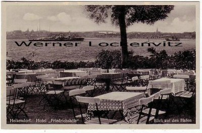Ansichtskarte Hotel Friedrichshöh Terrasse in Heikendorf