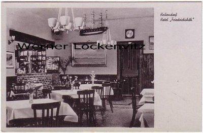 Ansichtskarte Heikendorf bei Kiel Hotel Friedrichshöh Innenansicht