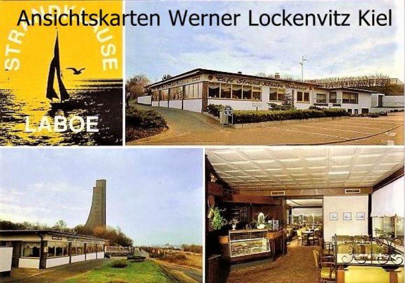 Ansichtskarte Laboe Strandklause Bes. H. I. Frach Inh. Rosemarie Bern