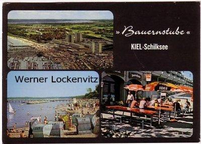 Ansichtskarte Kiel-Schilksee Bauernstube Strand Olympiacenter