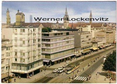 Ansichtskarte Braunschweig Bohlweg mit Straßenbahn