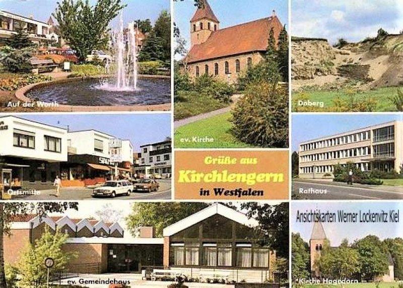 Ansichtskarte Kirchlengern mehrfach Ortsmitte Doberg