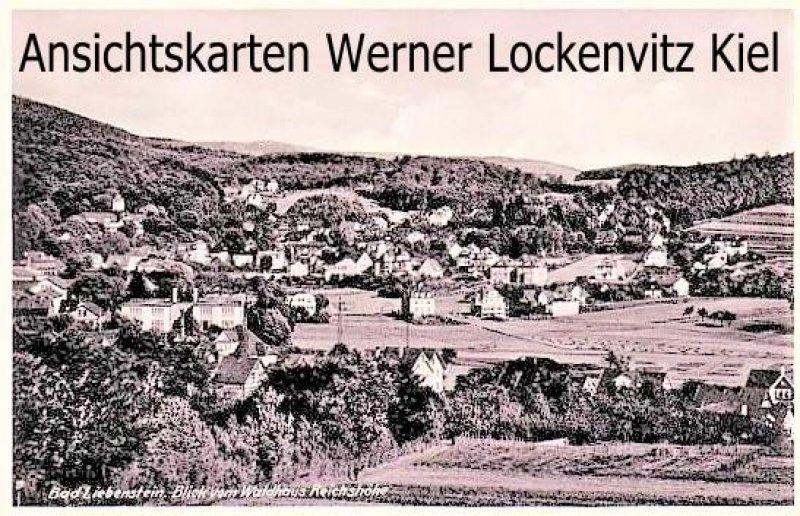 Ansichtskarte Bad Liebenstein Panorama Blick vom Waldhaus Reichshöhe