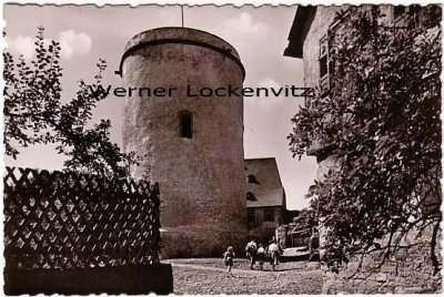 Ansichtskarte Hering im Odenwald Burg Otzberg Der Bergfried