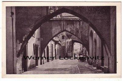 Ansichtskarte Cartolina Italia Bolzano Bozen Via dei Carrettai