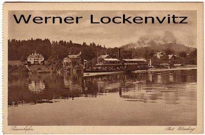 Ansichtskarte Possenhofen Photo Wörsching Panorama mit Dampfer