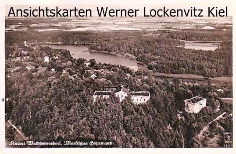 Ansichtskarte Waldsieversdorf Märk. Höhenland Ortsansicht Luftbild