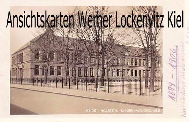Ansichtskarte Heide in Holstein Knaben-Volksschule