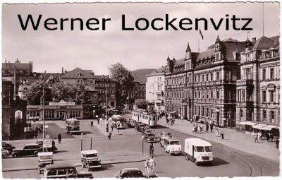 Ansichtskarte Heidelberg alter Bahnhofsvorplatz mit Hauptpostamt