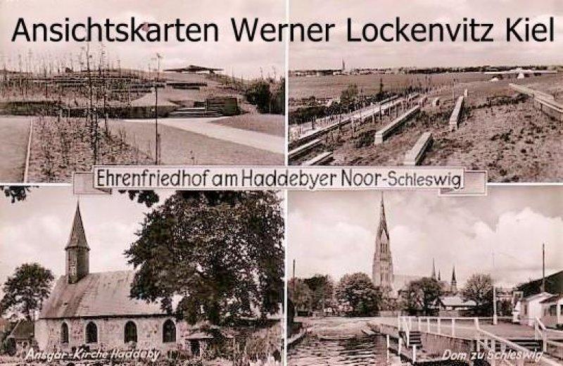 Ansichtskarte Busdorf-Haddeby bei Schleswig Ehrenfriedhof am Haddebyer Noor mehrfach