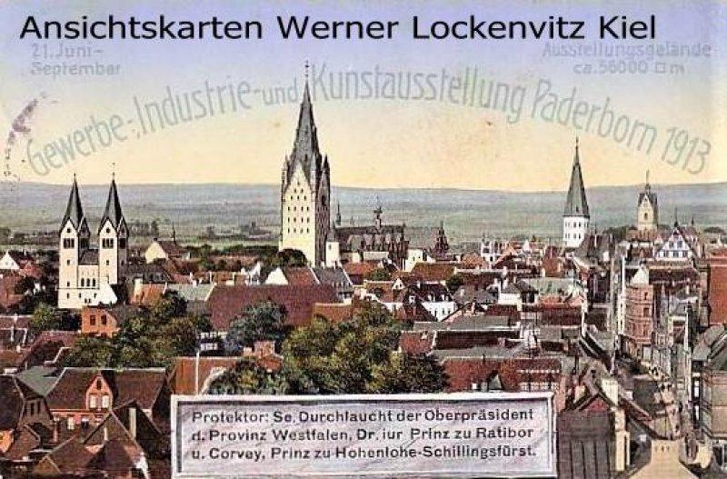 Ansichtskarte Paderborn Gewerbe-Industrie und Kunstausstellung