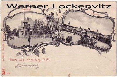 Ansichtskarte Polen Pommern Friedeberg Strzelce Krajeńskie  mehrfach Vorstadt Untersee