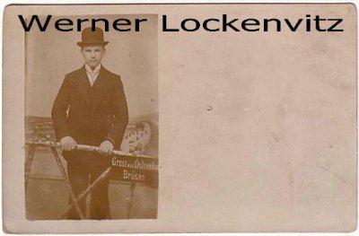 Alte Ansichtskarte Polen Danzig-Brösen Brzeźno Ostseebad Junger Mann