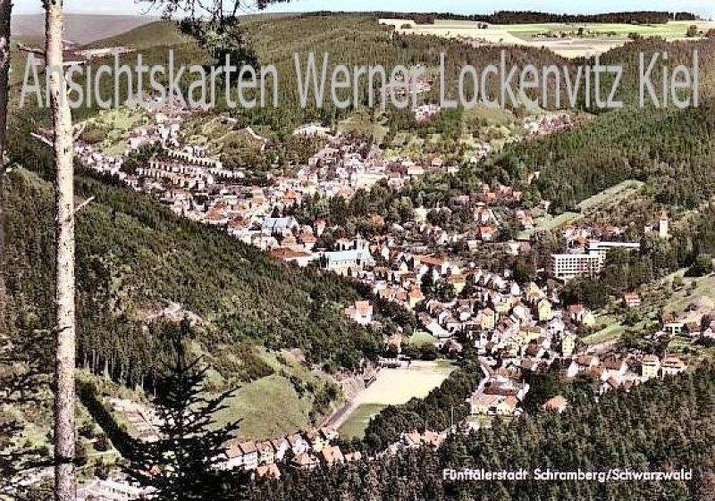 Ansichtskarte Schramberg im Schwarzwald Ortsansicht Blick von der Tischnecker Berghalde