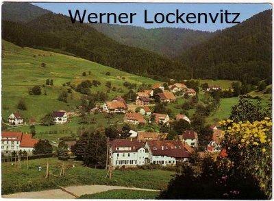 Ansichtskarte Marzell bei Badenweiler Ortsansicht Panorama mit Kurheim Pension zur Sonne Bes. Fr. Schneider