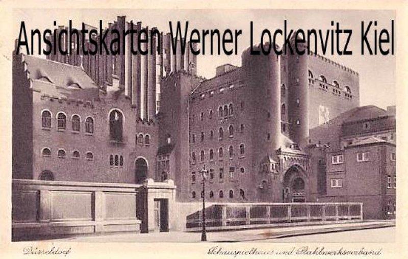 Ansichtskarte Düsseldorf Schauspielhaus und Stahlwerksverband