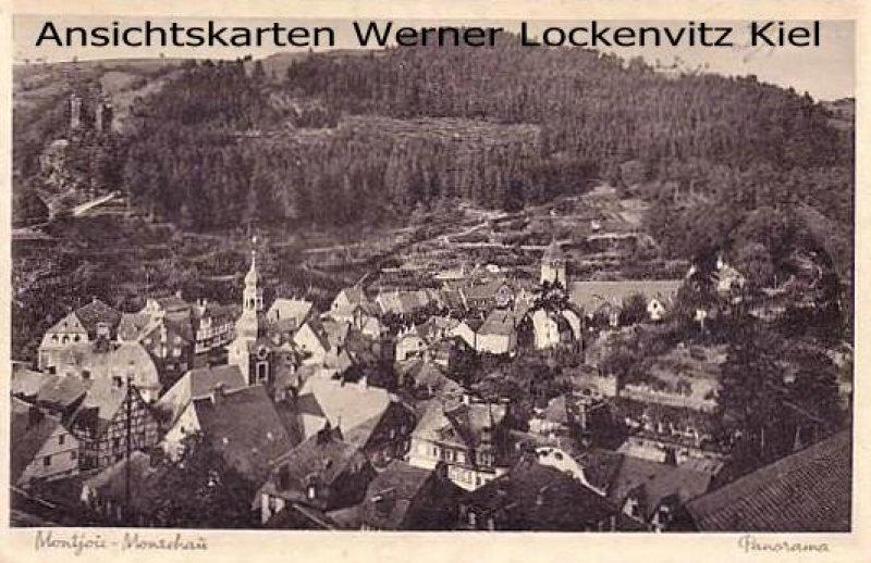 Ansichtskarte Monschau Montjoie Ortsansicht Panorama