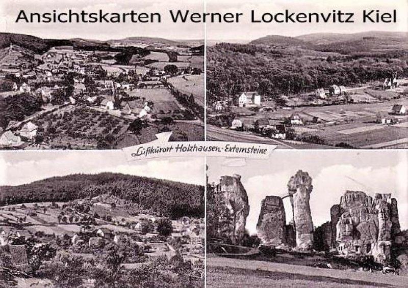 Ansichtskarte 32805 Horn-Bad Meinberg OT Holzhausen-Externsteine mehrfach Panoramen Externsteine