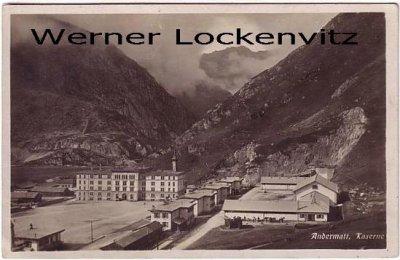 Ansichtskarte Schweiz Andermatt Kaserne im Kanton Uri