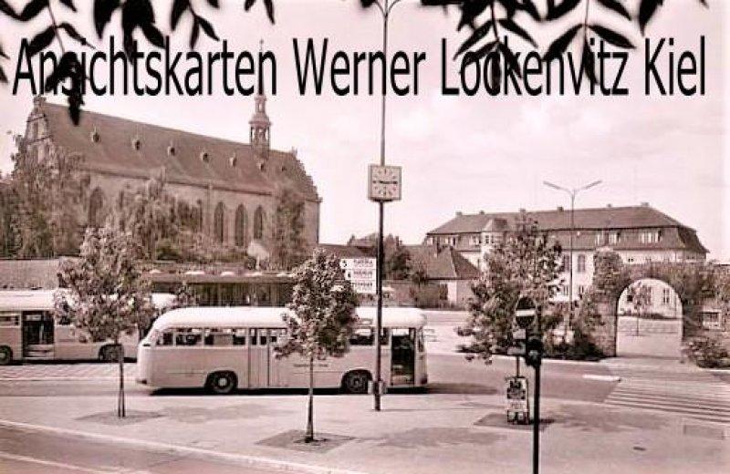 Ansichtskarte Fulda Am Busbahnhof mit Bus Blick zur Nonnenkirche und zum Heertor