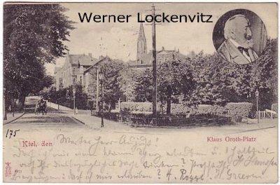 Ansichtskarte Kiel Klaus Groth-Platz
