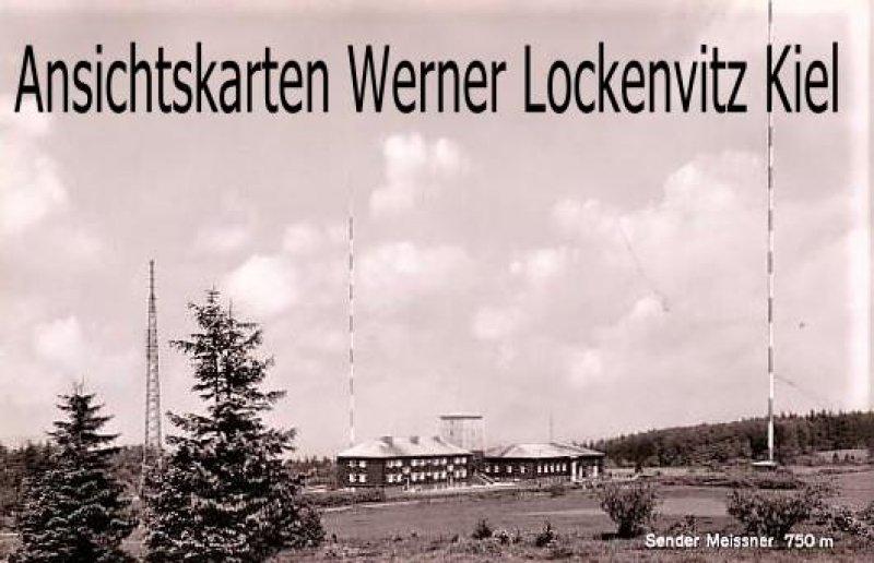 Ansichtskarte Hessisch Lichtenau Berggasthof Hoher Meissner Bes. H. u. E. Gröling Sendetürme vom Sender Meissner