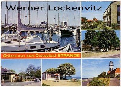Ansichtskarte Strande bei Kiel Leuchtturm Park-Hotel Hafen Kiosk
