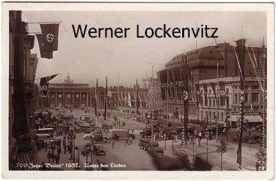 Ansichtskarte Berlin Unter den Linden 700 Jahre SoStpl. Internationale Handwerk-Ausstellung 1939