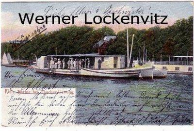Ansichtskarte Kiel Marine bei Taucher-Uebung
