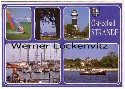 Ansichtskarte Strande bei Kiel Leuchtturm Hafen Segler Kutter