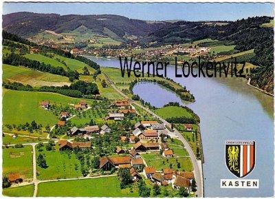 Ansichtskarte Österreich Kasten an der Donau Ortsansicht Panorama Luftbild Niederösterreich